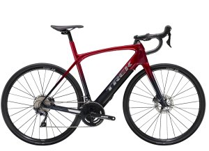Trek Domane+ LT 62 Rage Red to Deep Dark Blue Fade